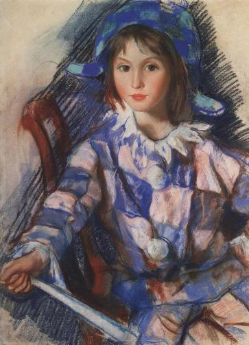 tata-portrait-in-the-costume-of-harlequin-1921