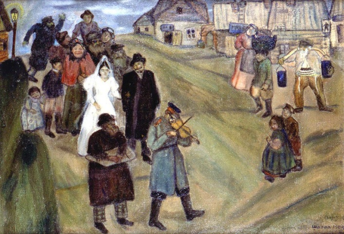 Marc Chagall - Russian Wedding, 1909