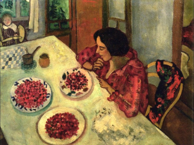 strawberries-bella-and-ida-at-the-table-1916