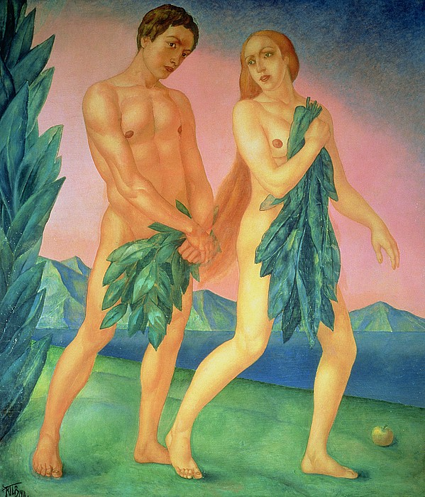the-expulsion-from-paradise-1911-oil-on-canvas-kuzma-sergeevich-petrov-vodkin
